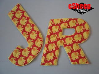 Quilted Fabric Letters by eSheep Designs