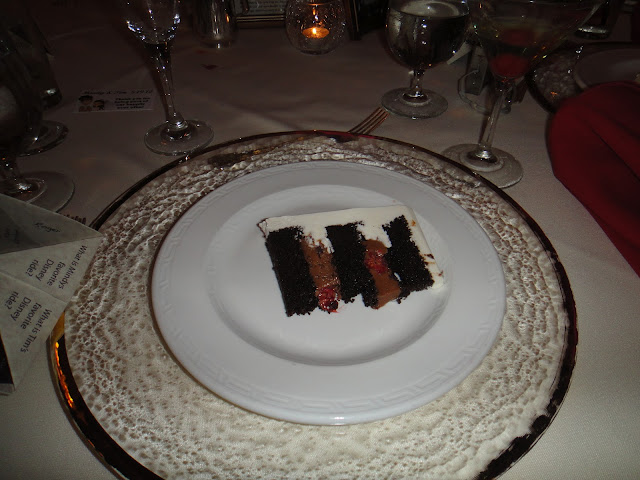 Disneyland Wedding - Chocolate cake with chocolate mousse with fresh raspberries