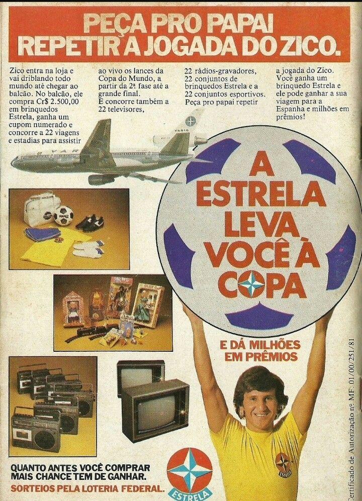 Propaganda antiga dos Brinquedos Estrela às vésperas da Copa do Mundo de 1982