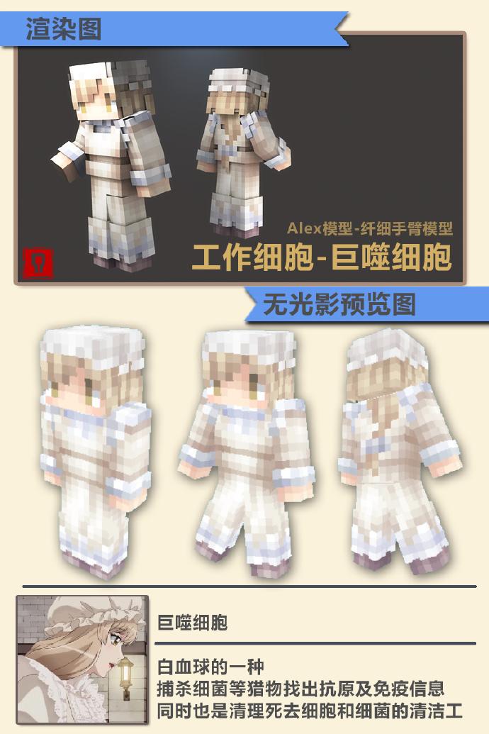 Minecraft工作細胞Skin皮膚合輯下載-MCFuns