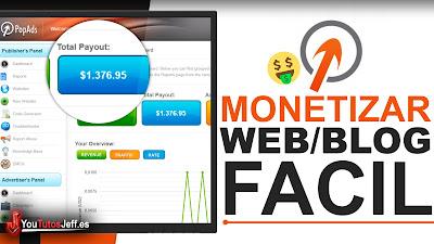 monetizar web con popads