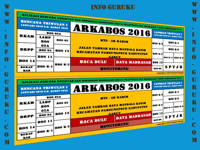 ARKABOS ( Aplikasi Rencana Kegiatan Anggaran BOS ) 2016 Format Excel