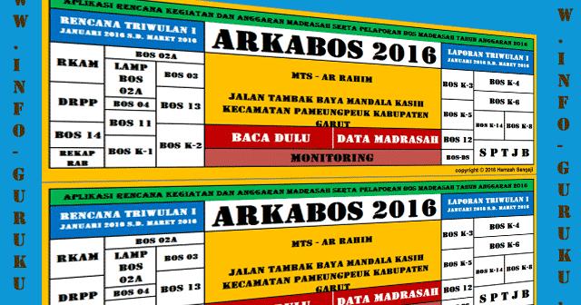 Arkabos Aplikasi Rencana Kegiatan Anggaran Bos 2016 Format Excel Info Guruku