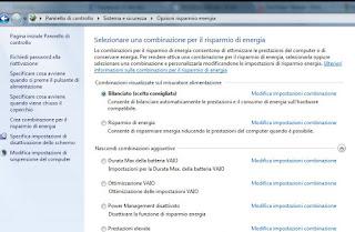 Opzioni Windows 7