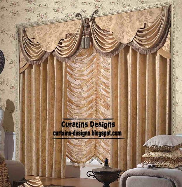 Curtain Designn Unique Living Room Design And