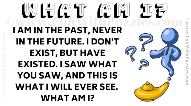 I am in the past, never in the future. I don't exist, but have existed. I saw what you saw, and this is what I will ever see. What am I?