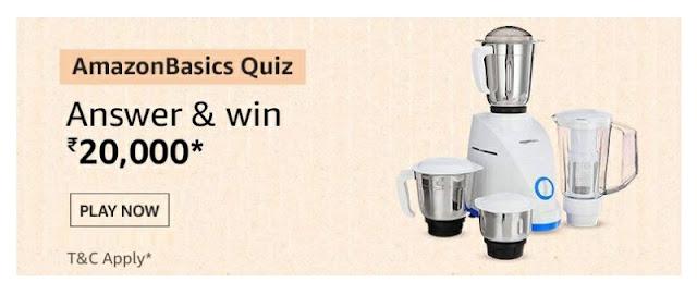 Amazon Basics Quiz answer and win
