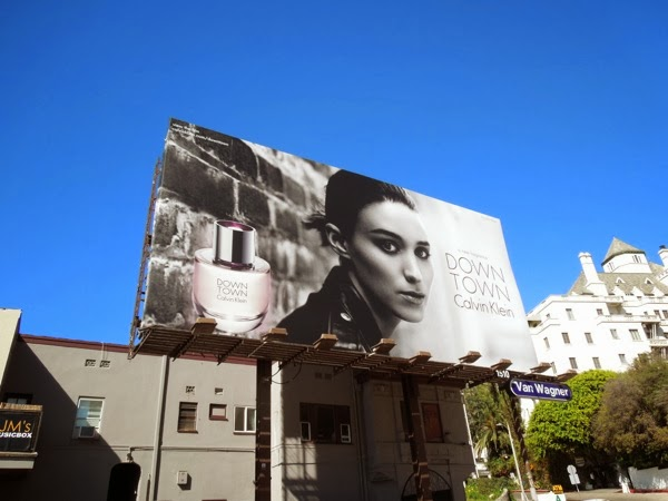 Calvin Klein Downtown fragrance mono billboard