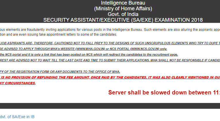 IB Security Assistant Admit Card for Tier II Exam