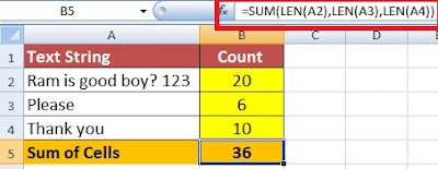 How to Count Character in Excel in Hindi