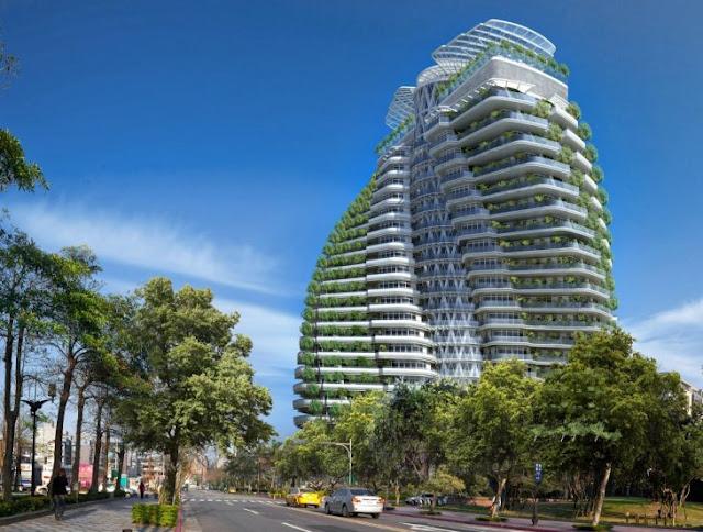 Torre absorbe el carbono está en Taiwán, y es impresionante