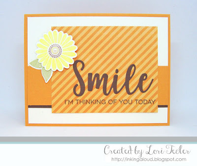I'm Thinking of You Today card-designed by Lori Tecler/Inking Aloud-stamps and dies from My Favorite Things