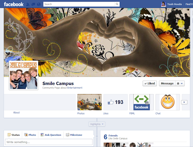 SmileCampus on Facebook Timeline