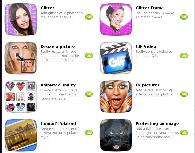 List of free online photo image editor and effects for Rendering online free