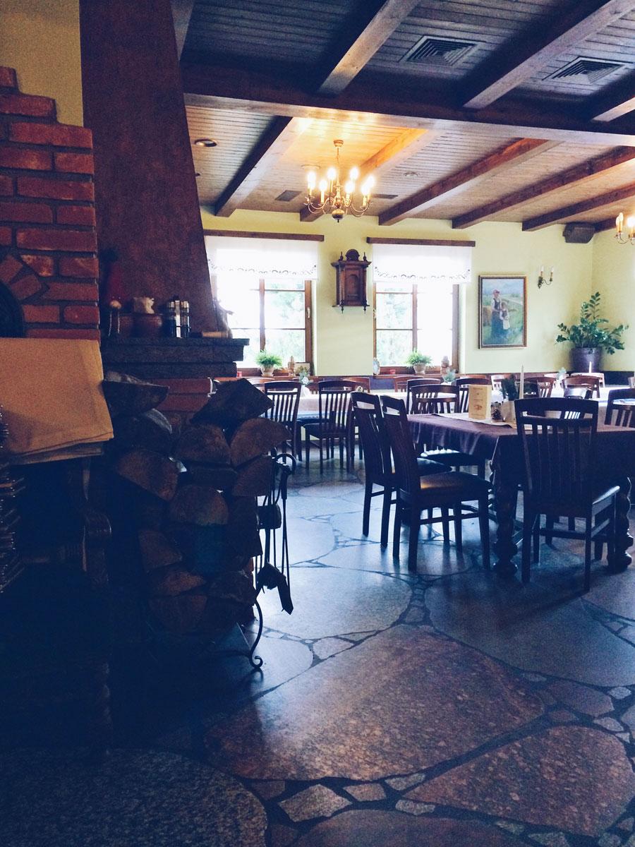 Restauracja Nordowi Mól w Celbowie - lokal wewnątrz.