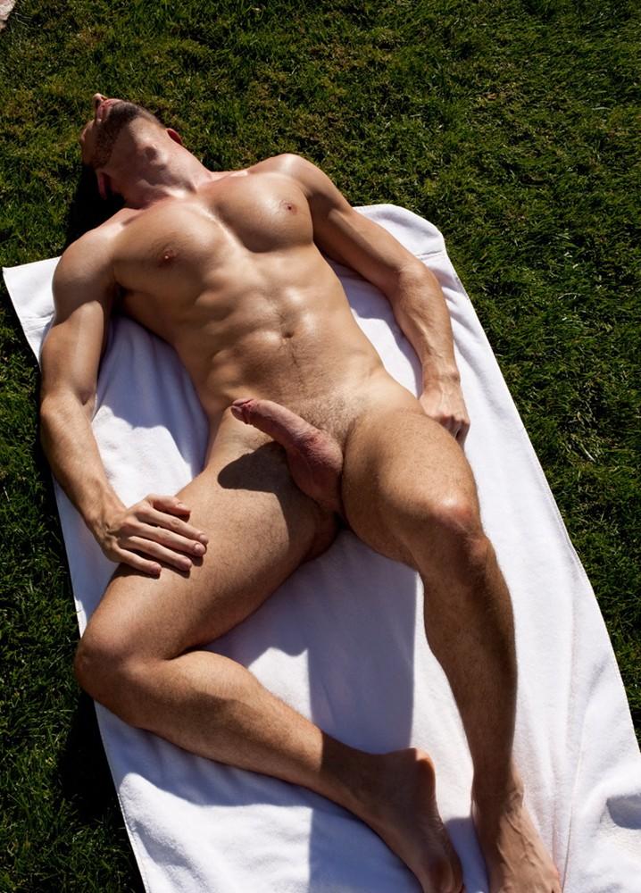 nude male in sun