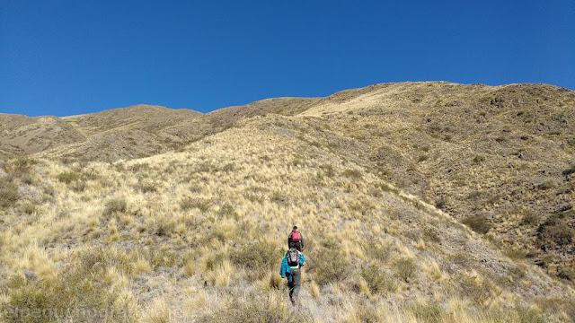 Sendero, subida, ascenso, La Tordilla, trekking