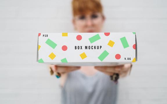Mockup box kardus gratis