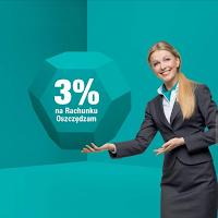 3% do 50 tys. zł i premia do 350 zł od Credit Agricole