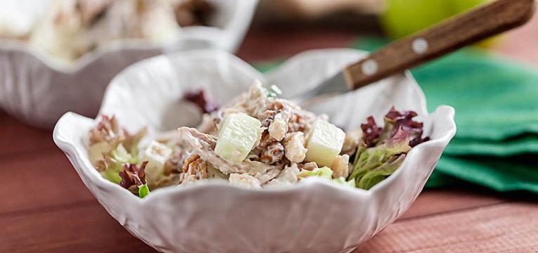 Salada de Frango com Maça