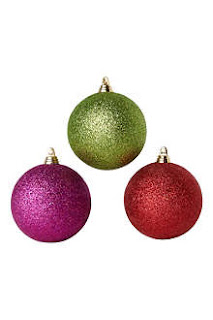 Gisela Graham Glitter Baubles, Christmas Decorations Selfridges