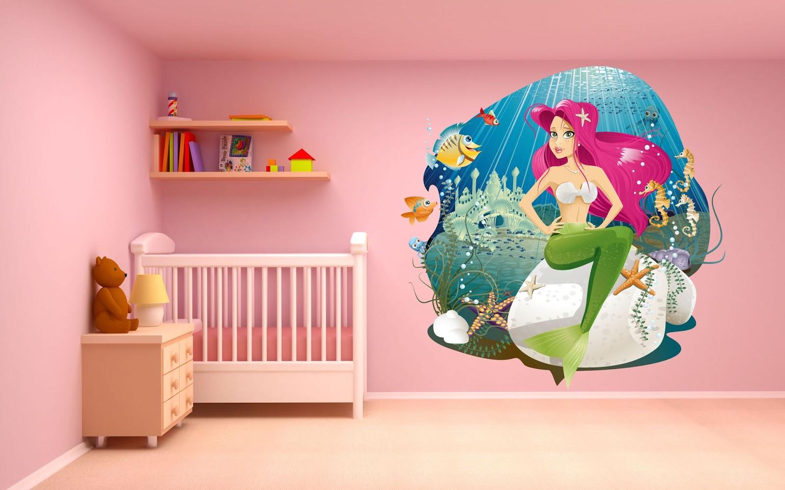 Adesivi Murali Cameretta Bimba.Look Grafica Adesivi Murali Per La Cameretta Dei Bambini Tante