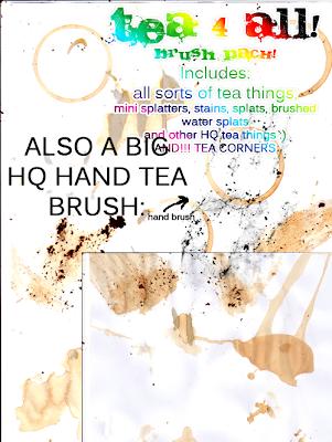 Pinceles para photoshop de marcas de tazas de caf y t - Marcas de te ...