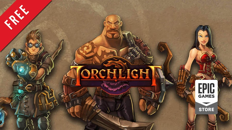 torchlight free pc epic games store runic games action role-playing hack and slash dungeon crawler game