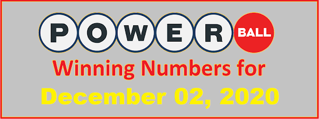 PowerBall Winning Numbers for Wednesday, December 02, 2020