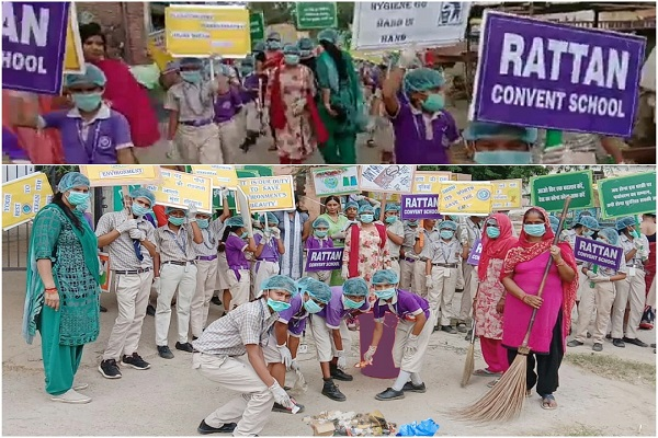 rattan-convent-school-village-harfali-faridabad-swachh-abhiyan-rally