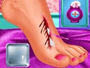 لعبة علاج قدم مريضة