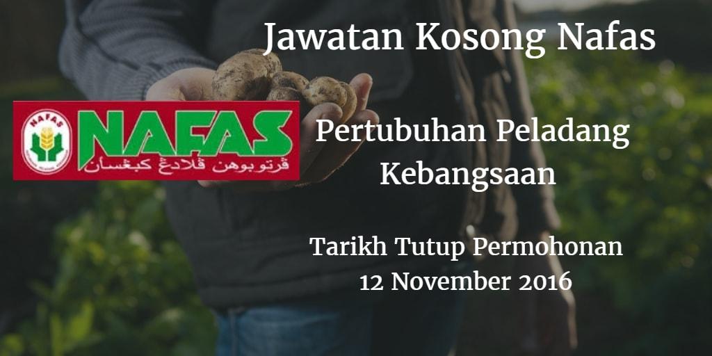 Jawatan Kosong Nafas 12 November 2016