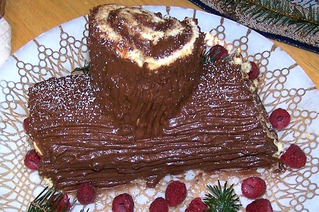 Receita Bûche de Natal com Chocolate