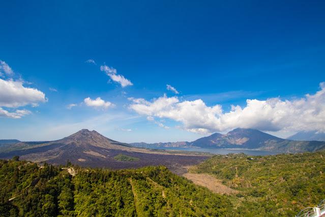 Vulcano e lago Batur-Bali