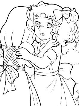 Dibujo de Candy consolando a Annie para colorear o pintar e imprimir