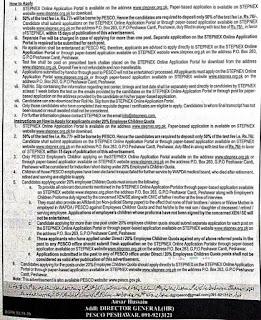 pesco jobs june 2019 advertisment aaj e paper