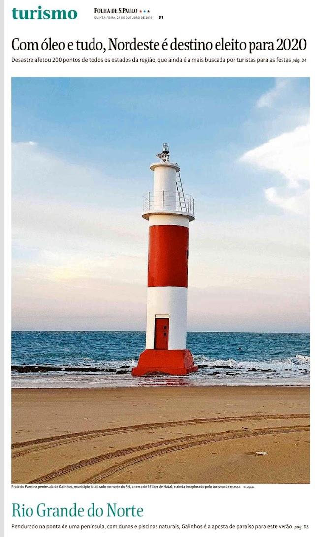 Folha de S. Paulo destaca: Praia de Galinhos é a nova descoberta do verão