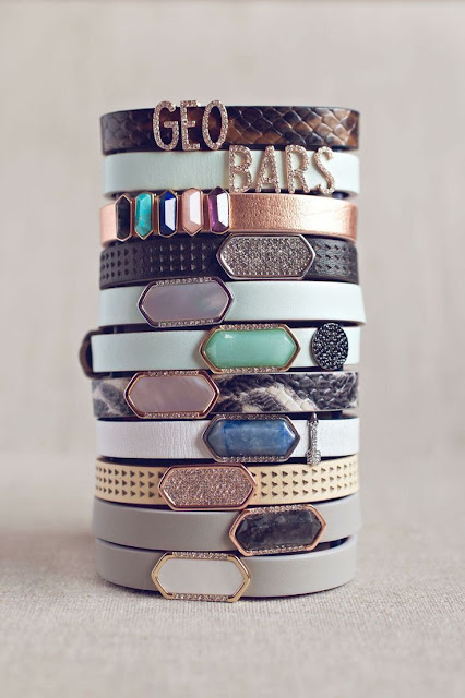 Mix and Match Crystal energy bracelets with Geo bars I Mindset Unicorn