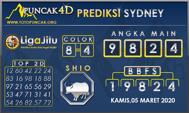 PREDIKSI TOGEL SYDNEY PUNCAK4D 05 MARET 2020