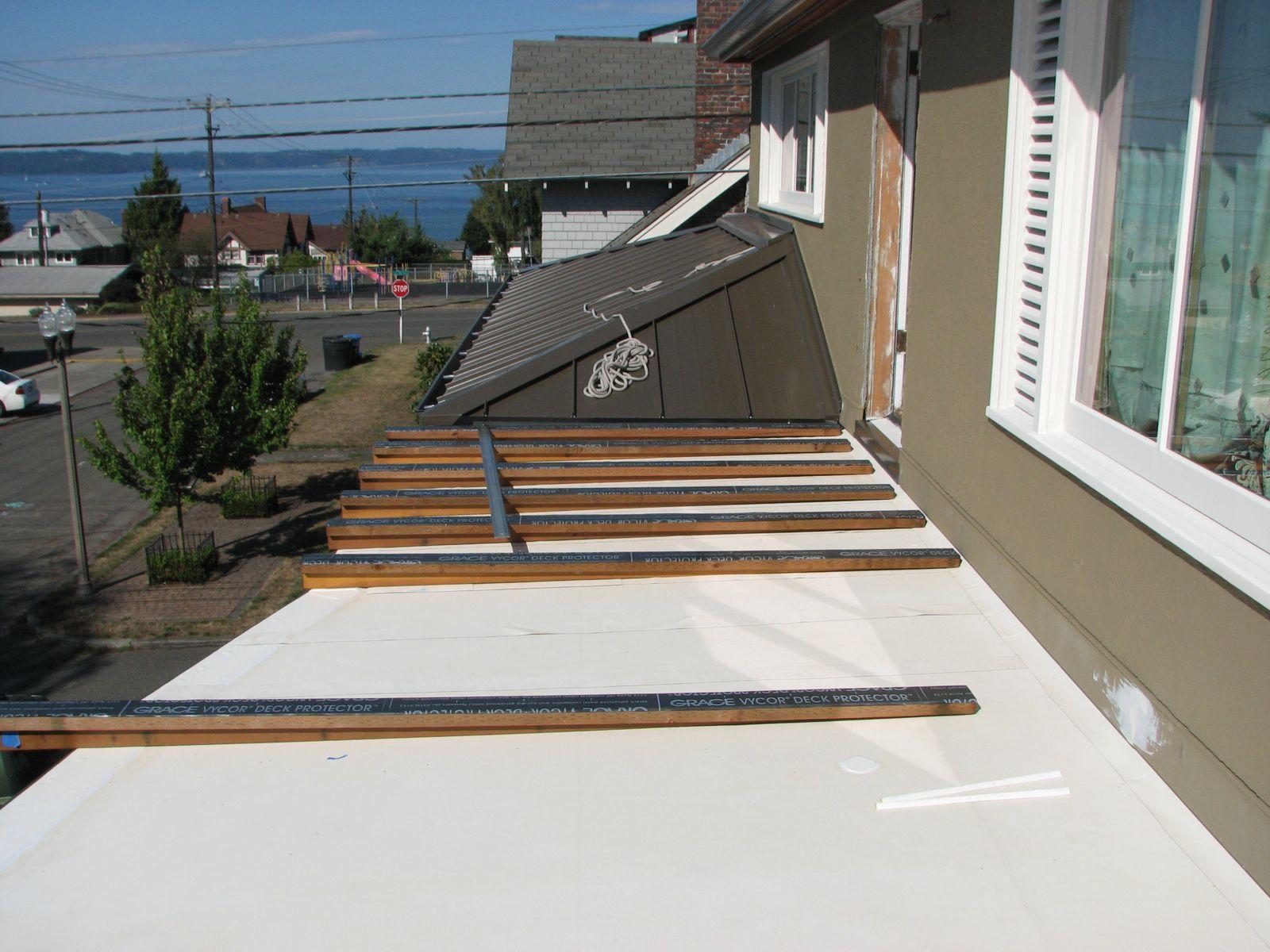 Balcony Part Ii Or Wood Deck Over Epdm Deck On Sleepers