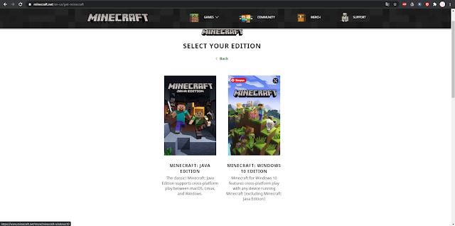 Minecraft versi PC Komputer atau Laptop
