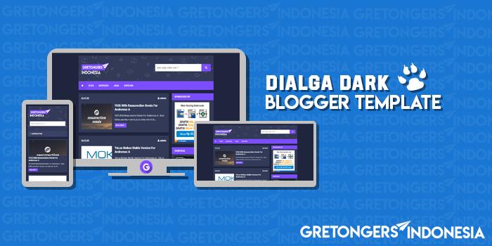 Dialga Dark Responsive Blogger Template