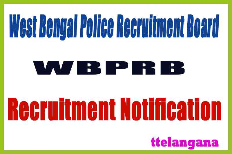 West Bengal Police Recruitment Notification