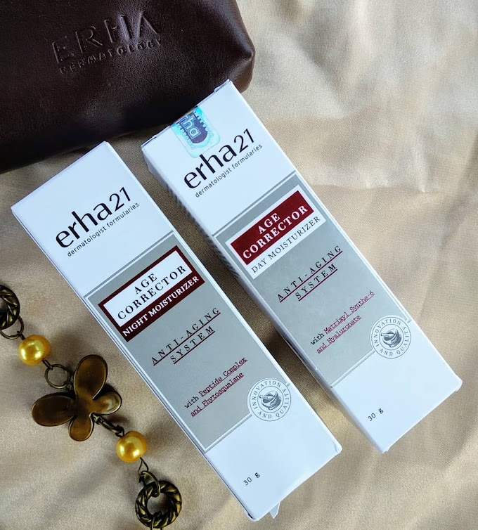 REVIEW; ERHA AGE CORRECTOR DAY MOISTURIZER & AGE CORRECTOR NIGHT MOISTURIZER