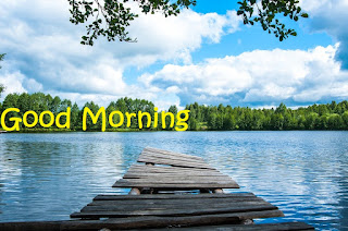 good morning river image