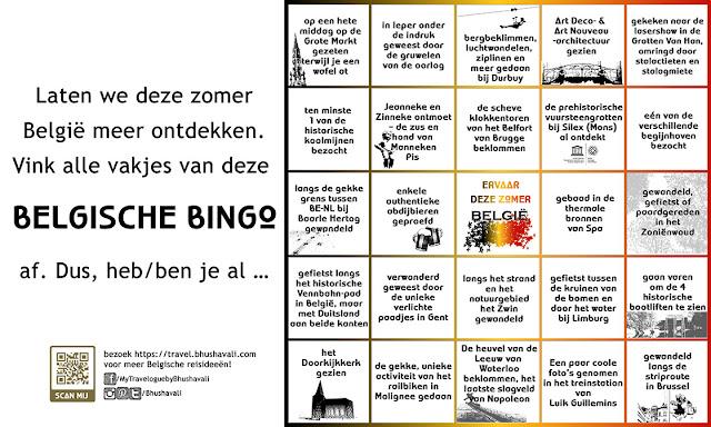 Plaatsen om te zien in België - Belgische bingo