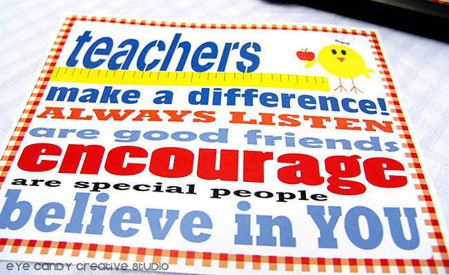 teachers make a difference, art print for teachers, teachers believe in you