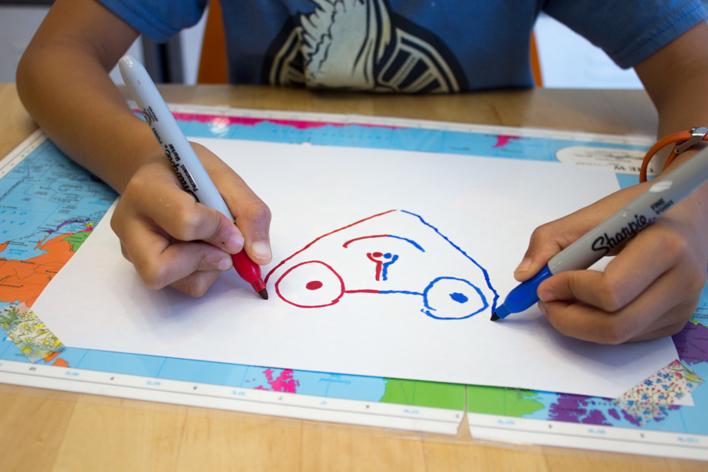 Double Doodle Drawing The Artful Parent Book Pink Stripey Socks