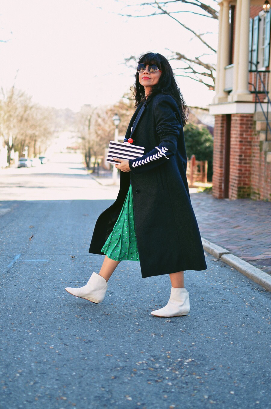 White ankle boots street style