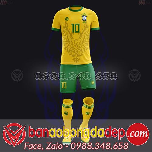Áo Đội Tuyển Đặt May Theo Yêu Cầu - Mã BRAZIL-03